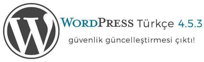 WordPress Türkçe 4.5.3